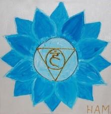 Blau, Hals-Kehlkopfchakra
